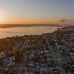 Sunrise over North Tacoma